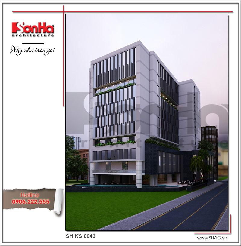 Phong cách kiến trúc khoáng đạt làm nên nét tinh tế của mẫu thiết kế khách sạn 4 sao hiện đại