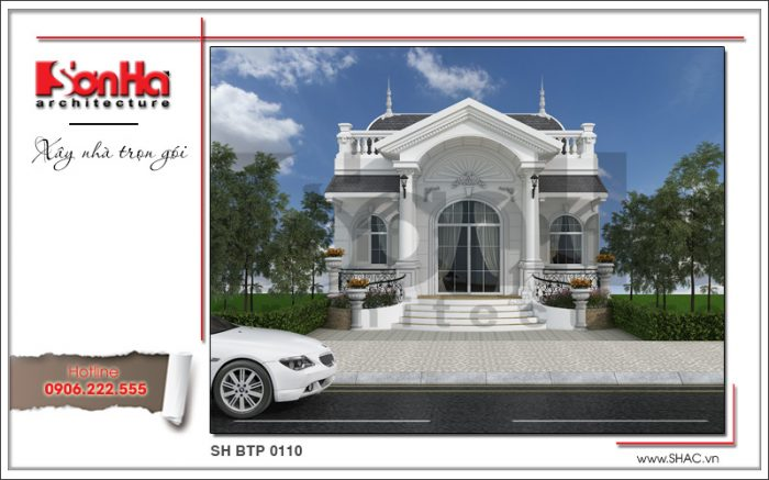 Phương án thiết kế biệt thự 1 tầng phong cách châu Âu tại Hà Nội được trình làng mới nhất của SHAC