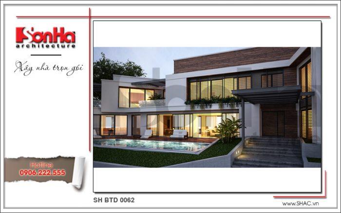 Phương án thiết kế được đánh giá cao của biệt thự kiến trúc hiện đại với mái bằng đẹp