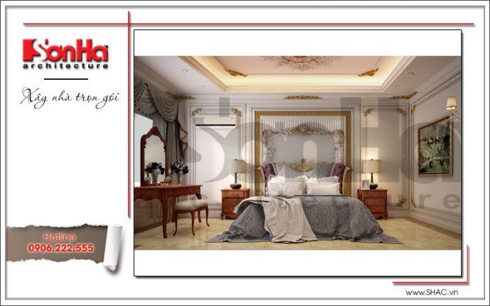 Phương án thiết kế nội thất phòng ngủ cổ điển tiện nghi của biệt thự lâu đài pháp đẳng cấp