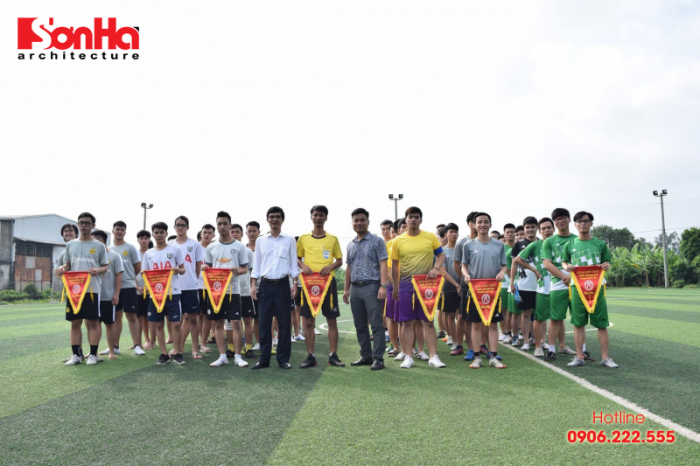 Sơn Hà Architecture hân hạnh đồng hành cùng Giải bóng đá sinh viên khoa Kiến trúc (Viện Đại học Mở) (1)