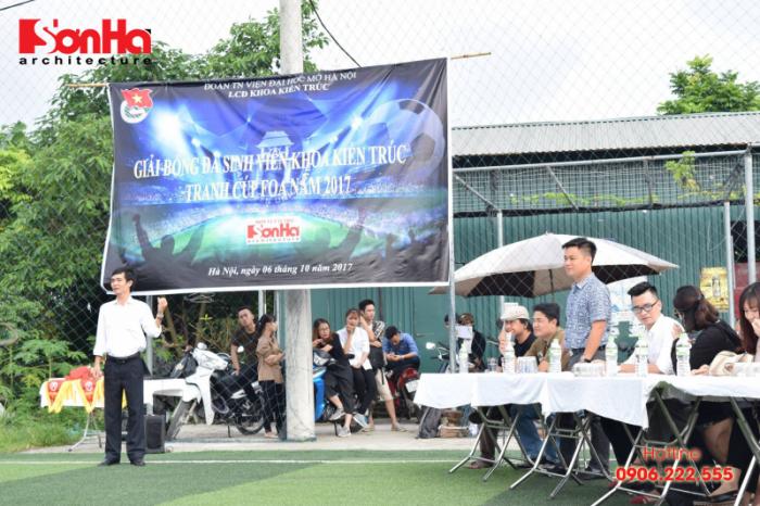 Sơn Hà Architecture hân hạnh đồng hành cùng Giải bóng đá sinh viên khoa Kiến trúc (Viện Đại học Mở) (2)