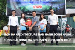 Sơn Hà Architecture hân hạnh đồng hành cùng Giải bóng đá sinh viên khoa Kiến trúc (Viện Đại học Mở) 7