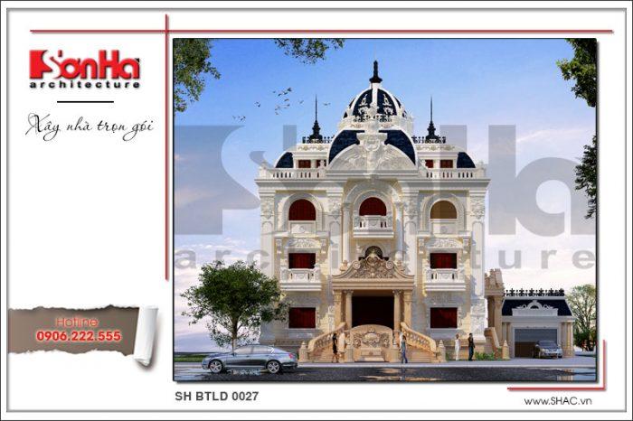 Thiết kế ấn tượng của mẫu mặt tiền biệt thự phong cách cổ điển toát lên nét tinh tế