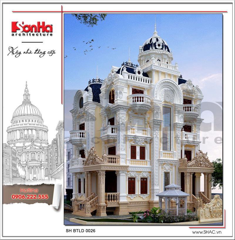 Thiết kế ấn tượng được đánh giá cao của biệt thự cổ điển với mái vòm tinh tế đẹp mắt
