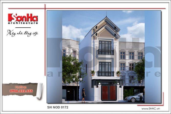 Thiết kế nhà phố hiện đại được đánh giá cao với việc cập nhật tốt những quan điểm mới