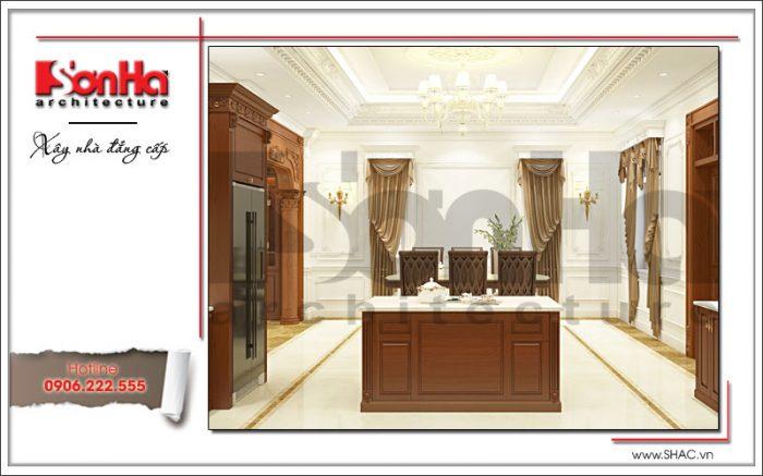 Thiết kế nội thất phòng bếp ăn nhà ống điển hình mẫu thiết kế đẹp mắt mãn nhãn