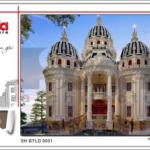 1 Thiết kế kiến trúc biệt thự lâu đài cổ điển tại đà nẵng sh btld 0031