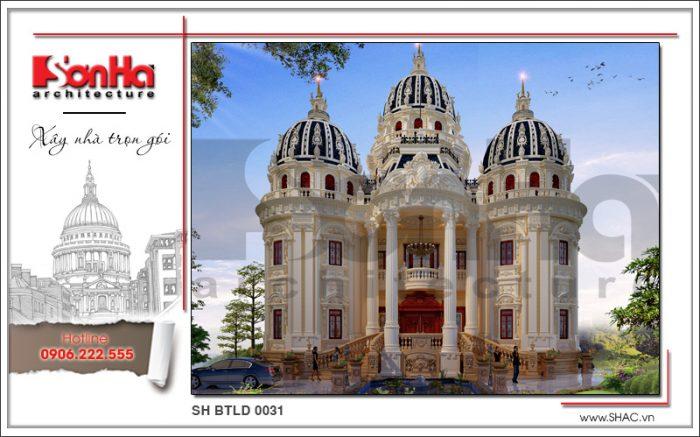 Mẫu thiết kế biệt thự cổ điển phong cách Châu Âu đẳng cấp