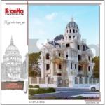 1 Thiết kế kiến trúc biệt thự lâu đài cổ tại đà nẵng sh btld 0032