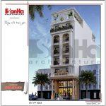 1.Thiết kế kiến trúc mặt tiền tòa nhà căn hộ cho thuê tại sài gòn SH VP 0033