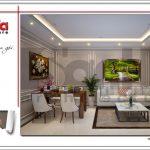 1.Thiết kế nội thất phòng khách bếp ăn tòa nhà căn hộ cho thuê tại sài gòn SH VP 0033