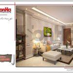 1.Thiết kế nội thất phòng khách tòa nhà căn hộ cho thuê tại sài gòn SH VP 0033