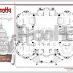 11 Bản vẽ mặt bằng công năng tầng 2 biệt thự lâu đài đẹp tại đà nẵng sh btld 0031