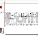 2.Mặt bằng công năng tầng hầm tòa nhà căn hộ cho thuê tại sài gòn SH VP 0033