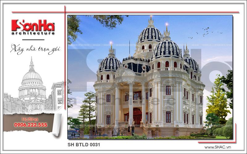 Biệt thự lâu đài cổ điển xa hoa diện tích 22,13m x 18,44m tại Đà Nẵng - SH BTLD 0031 2