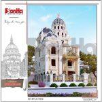 2 Mẫu kiến trúc biệt thự lâu đài pháp đẹp tại đà nẵng sh btld 0032