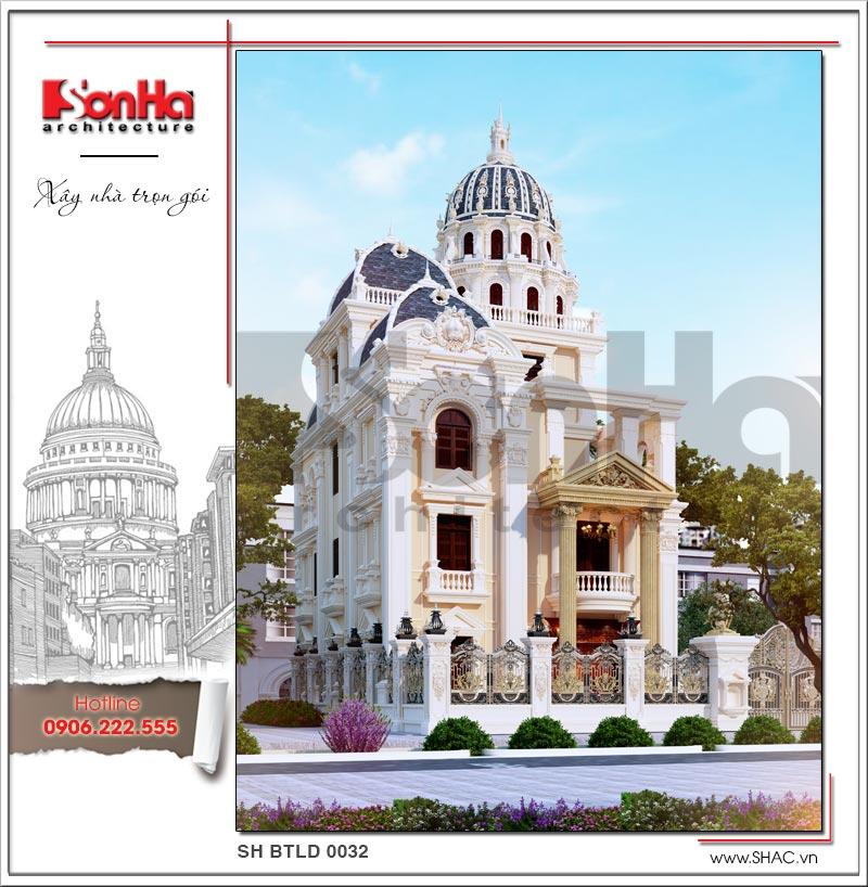 Mãn nhãn thiết kế lâu đài 3 tầng diện tích 11mx14,6m tại Đà Nẵng – SH BTLD 0032 2