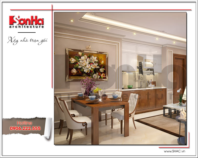 Thiết kế kiến trúc và nội thất căn hộ cho thuê tại Sài Gòn - SH VP 0033 3