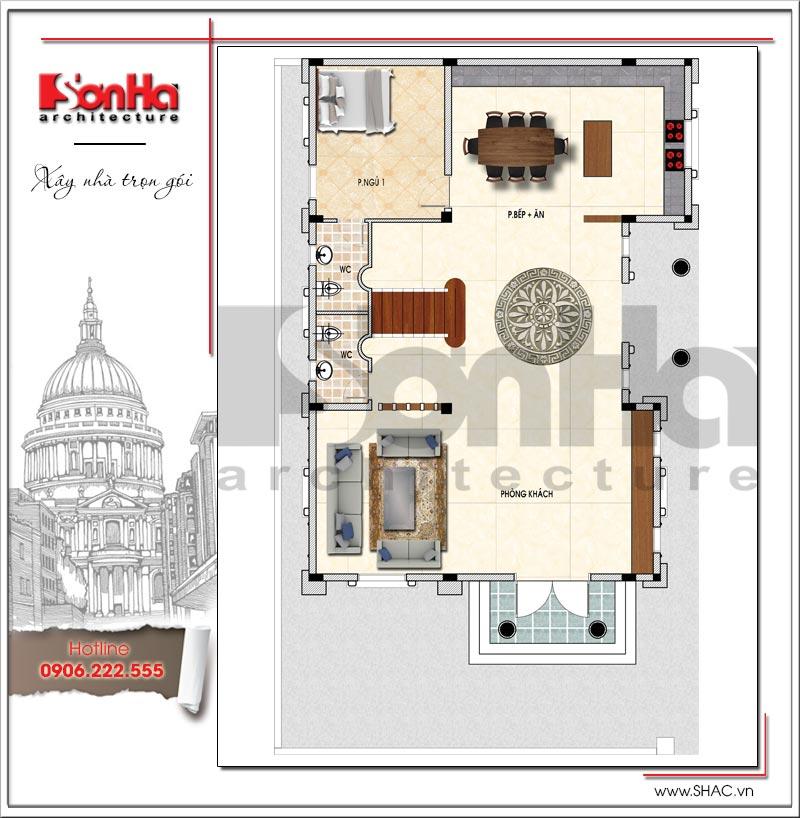 Mãn nhãn thiết kế lâu đài 3 tầng diện tích 11mx14,6m tại Đà Nẵng – SH BTLD 0032 3