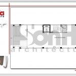 3.Mặt bằng công năng tầng 1 tòa nhà căn hộ cho thuê tại sài gòn SH VP 0033