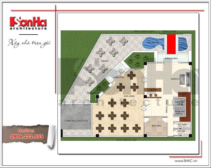 Bản vẽ thiết kế khách sạn 3 sao kiến trúc cổ điển tại Vũng Tàu – SH KS 0048 3