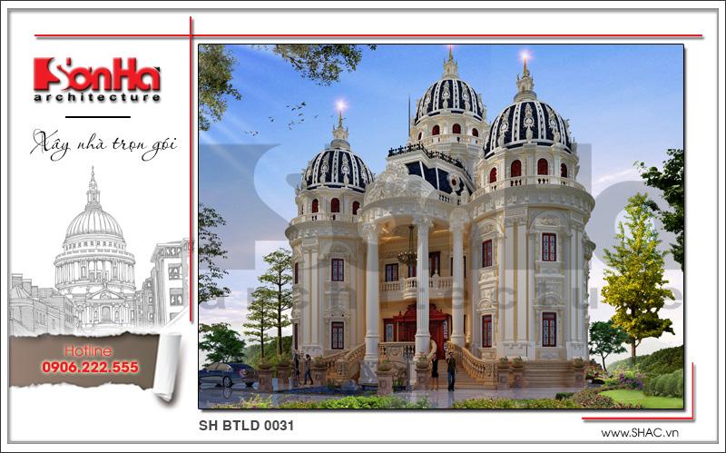 Biệt thự lâu đài cổ điển xa hoa diện tích 22,13m x 18,44m tại Đà Nẵng - SH BTLD 0031 3