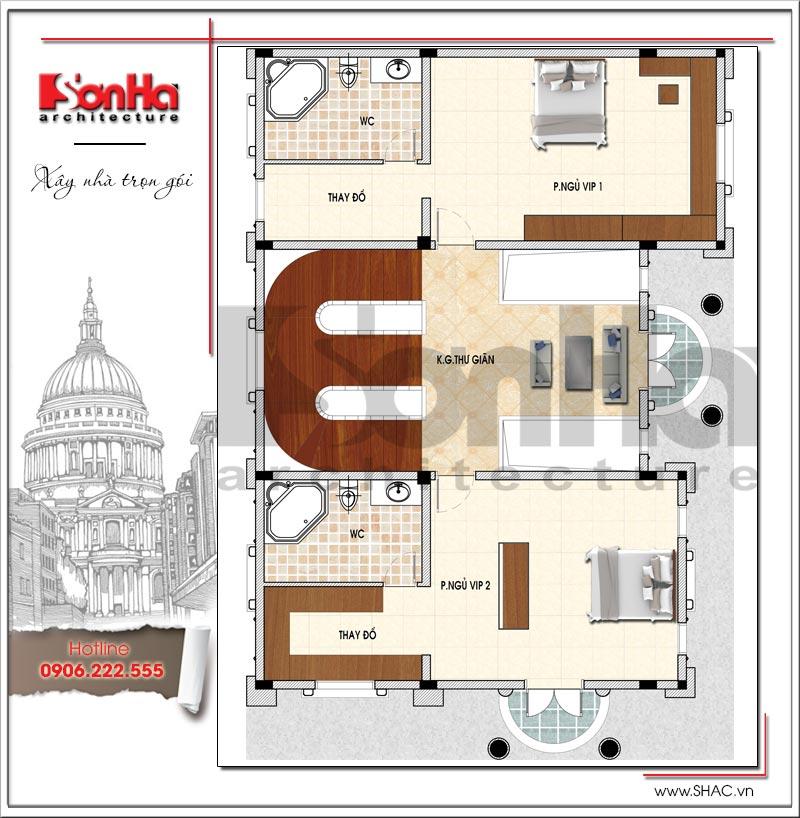 Mãn nhãn thiết kế lâu đài 3 tầng diện tích 11mx14,6m tại Đà Nẵng – SH BTLD 0032 4