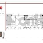4.Mặt bằng công năng tầng lửng tòa nhà căn hộ cho thuê tại sài gòn SH VP 0033