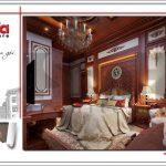 4 Mẫu nội thất phòng ngủ tầng 1 biệt thự lâu đài cổ tại đà nẵng sh btld 0031