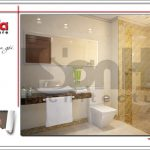 4.Mẫu nội thất phòng tắm wc tòa nhà căn hộ cho thuê SH VP 0033
