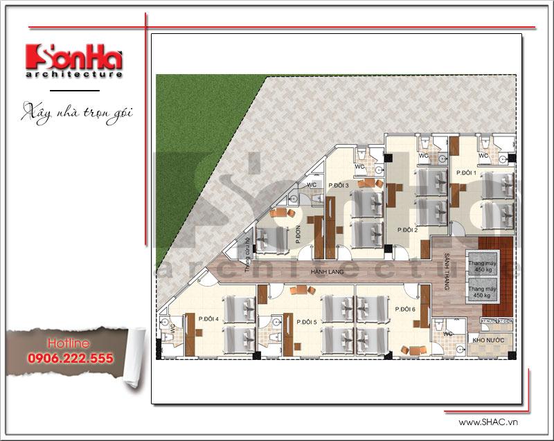 Bản vẽ thiết kế khách sạn 3 sao kiến trúc cổ điển tại Vũng Tàu – SH KS 0048 5
