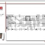 5.Mặt bằng công năng tầng 2 tòa nhà căn hộ cho thuê tại sài gòn SH VP 0033