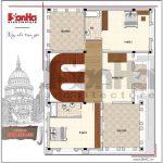 5 Mặt bằng công năng tầng 3 biệt thự lâu đài tại đà nẵng sh btld 0032
