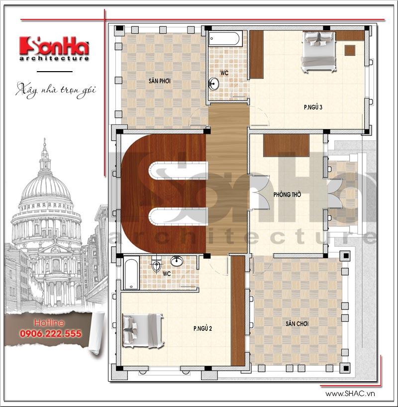 Mãn nhãn thiết kế lâu đài 3 tầng diện tích 11mx14,6m tại Đà Nẵng – SH BTLD 0032 5