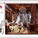 5 Thiết kế nội thất phòng ngủ tầng 1 biệt thự lâu đài đẹp tại đà nẵng sh btld 0031