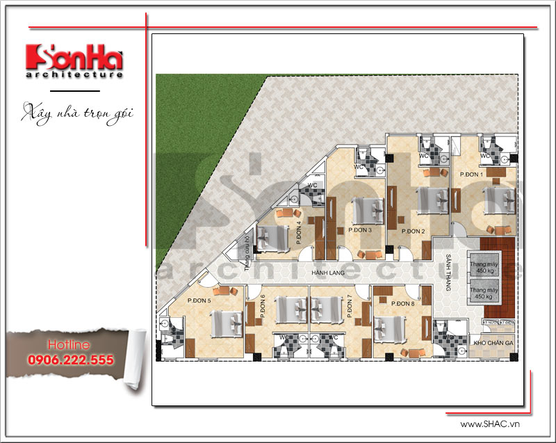 Bản vẽ thiết kế khách sạn 3 sao kiến trúc cổ điển tại Vũng Tàu – SH KS 0048 6