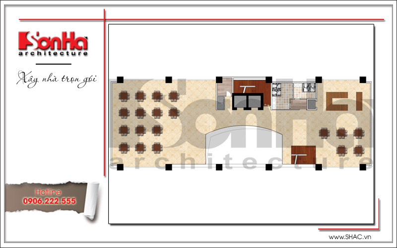 Thiết kế khách sạn 4 sao kiến trúc cổ điển tại Phú Quốc (Kiên Giang) – SH KS 0047 6