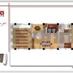 7 Mặt bằng công năng tầng 1 khách sạn 4 sao tại phú quốc sh ks 0047