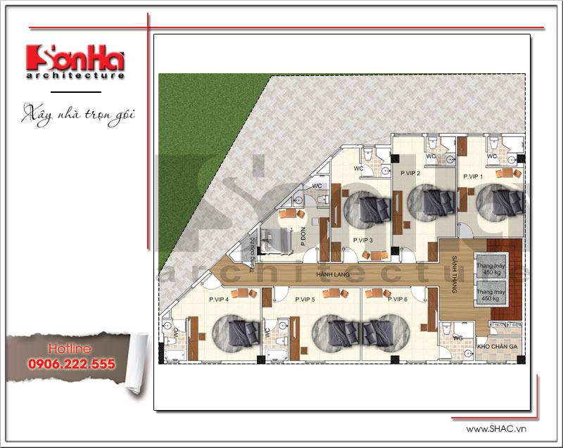 Bản vẽ thiết kế khách sạn 3 sao kiến trúc cổ điển tại Vũng Tàu – SH KS 0048 7