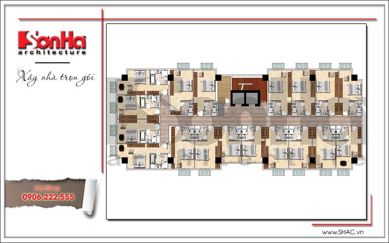 Thiết kế khách sạn 4 sao kiến trúc cổ điển tại Phú Quốc (Kiên Giang) – SH KS 0047 8