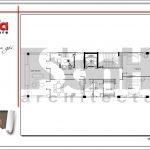 9.Mặt bằng công năng tầng 7 tòa nhà căn hộ cho thuê tại sài gòn SH VP 0033