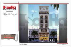 BIA phối cảnh kiến trúc pháp tòa nhà căn hộ cho thuê tại sài gòn SH VP 0033