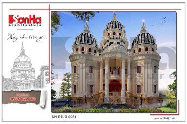 BÌA thiết kế biệt thự lâu đài cổ điển tại đà nẵng sh btld 0031