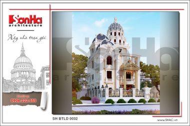 BÌA thiết kế kiến trúc biệt thự lâu đài đẹp tại đà nẵng sh btld 0032