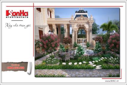 BÌA thiết kế tiểu cảnh sân vườn đẹp biệt thự lâu đài
