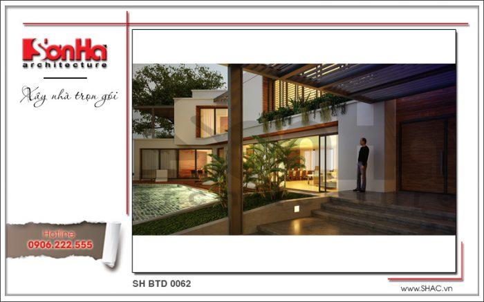 Biệt thự 2 tầng đơn giản điển hình xu hướng thiết kế mới nhất năm thương hiệu SHAC