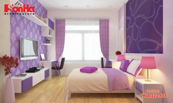 Các màu sơn phòng ngủ đẹp theo phong thủy cho nội thất hiện đại (2) Màu tím_2