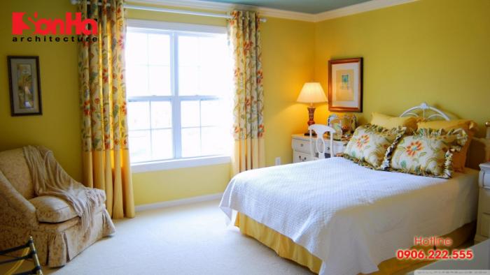 Các màu sơn phòng ngủ đẹp theo phong thủy cho nội thất hiện đại (4) Màu vàng_2