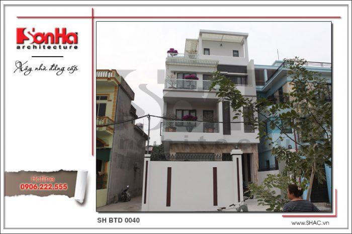 Đây là hình ảnh thi công thực tế của mẫu nhà mới 4 tầng hiện đại tại Quảng Ninh của SHAC